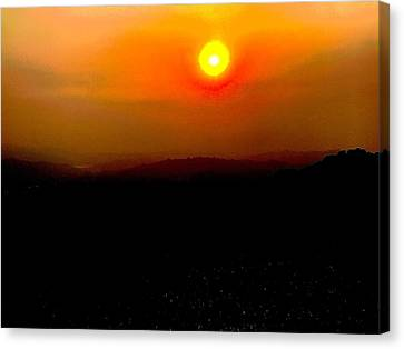 Canvas Print - Fireball by Cadence Spalding