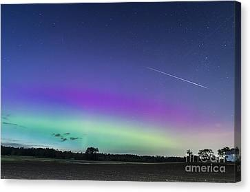 Fireball One Over The Farm Canvas Print