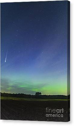 Fireball Two Over The Farm Canvas Print