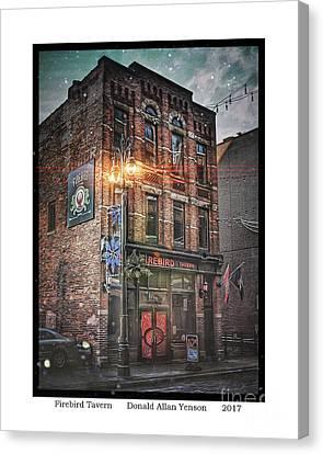 Firebird Tavern Canvas Print by Donald Yenson