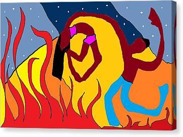 Firedance Canvas Print