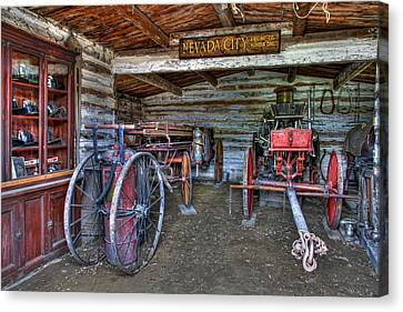 Firefighting Engine Company No. 1 - Nevada City Montana Ghost Town Canvas Print by Daniel Hagerman