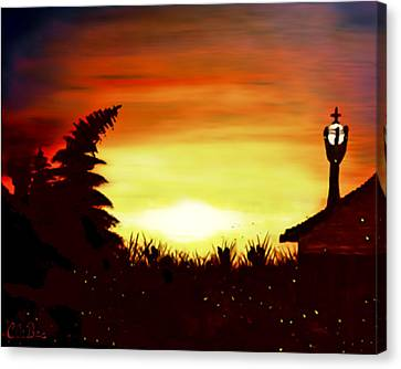 Firefly Frenzy - Elegance With Oil Canvas Print by Claude Beaulac