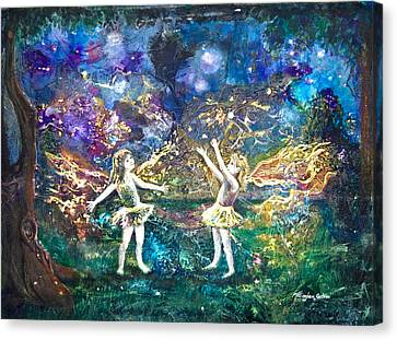 Firefly Frolic Canvas Print by Patricia Allingham Carlson