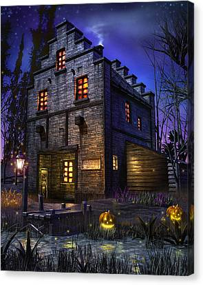 Ghost Story Canvas Print - Firefly Inn by Joel Payne