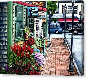 Firefly Lane Bar Harbor Maine Canvas Print by Eileen Patten Oliver