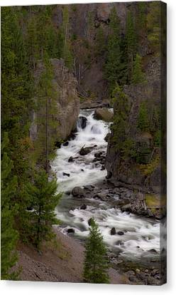 Canvas Print featuring the photograph Firehole Canyon by Steve Stuller