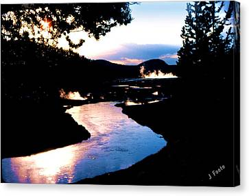 Firehole River Canvas Print