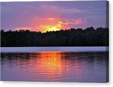 Canvas Print featuring the photograph Sunsets by Glenn Gordon