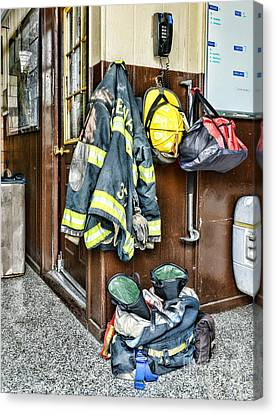 Fireman - Always Ready Canvas Print by Paul Ward