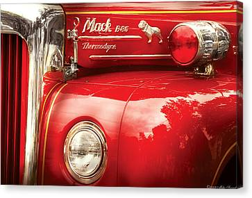 Fireman - An Old Fire Truck Canvas Print by Mike Savad