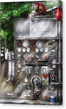 Fireman - Fireman's Controls Canvas Print by Mike Savad