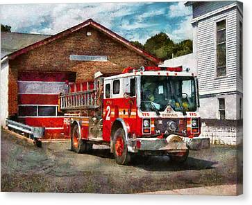 Fireman - Union Fire Company 1  Canvas Print by Mike Savad