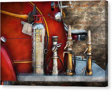 Personalized Canvas Print - Fireman - An Assortment Of Nozzles by Mike Savad
