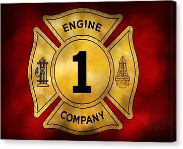 Fireman - Engine Company 1 Canvas Print by Mike Savad