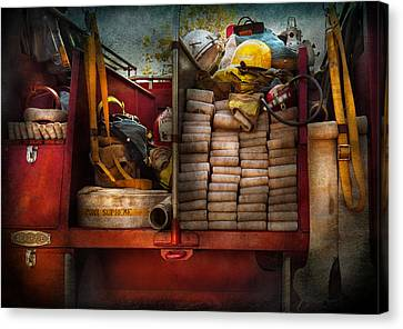 Fireman - Fire Equipment  Canvas Print by Mike Savad