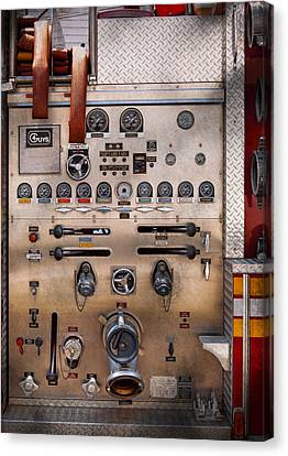 Fireman - For Guys Only  Canvas Print by Mike Savad