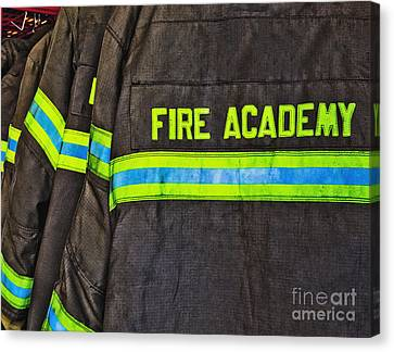 Fireman Jackets Canvas Print by Skip Nall