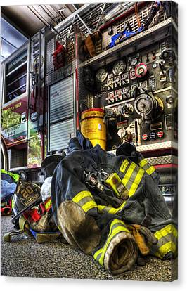 Firemen Always Ready For Duty - Fire Station - Union New Jersey Canvas Print by Lee Dos Santos