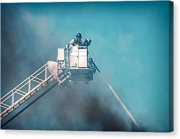 Firemen Dousing Flames  Canvas Print by Todd Klassy