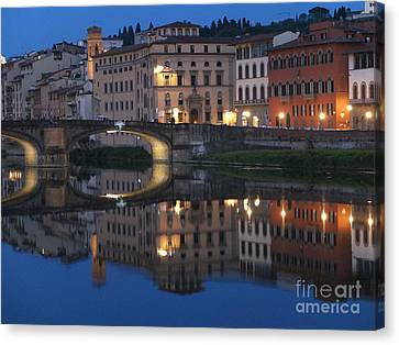 Firenze Blue I Canvas Print by Kelly Borsheim