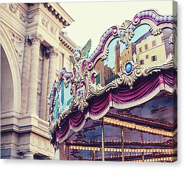 Canvas Print featuring the photograph Firenze Carousel by Melanie Alexandra Price