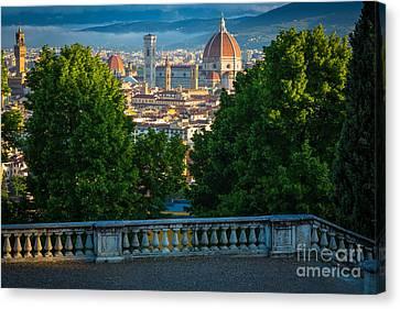 Tuscan Hills Canvas Print - Firenze Vista by Inge Johnsson