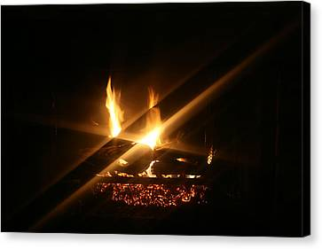 Grate Canvas Print - Fireplace by Ellen Henneke