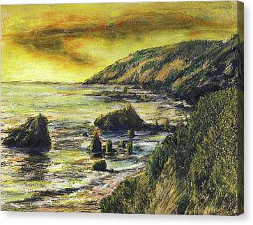 Fires Over Big Sur Canvas Print by Randy Sprout