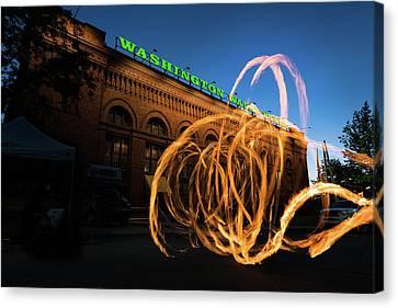 Firespinner Spokane Wa Canvas Print by Steve Gadomski