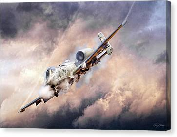 Firestorm Canvas Print by Peter Chilelli