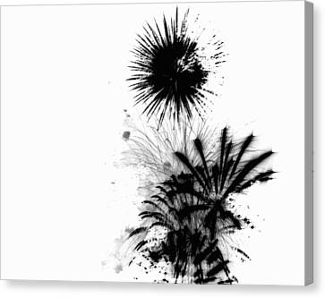 Glowing Canvas Print - Firework Abstract 9 by Michelle Calkins