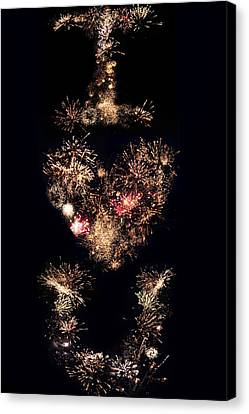 Firework Love Canvas Print
