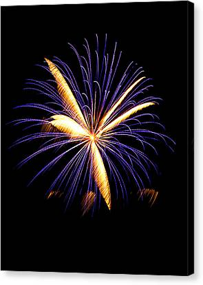 Canvas Print featuring the photograph Fireworks 6 by Bill Barber