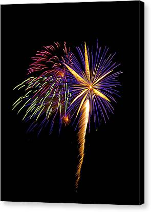 Canvas Print featuring the photograph Fireworks 8 by Bill Barber