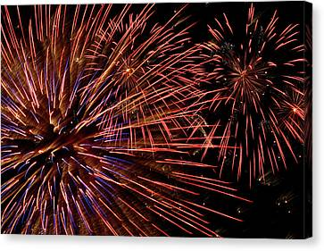 Pyrotechnics Canvas Print - Fireworks  by Paul Morley