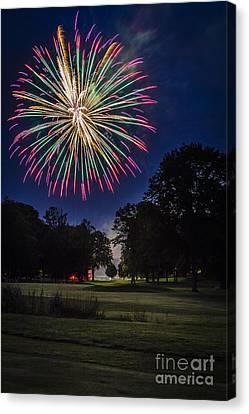 Fireworks Beauty Canvas Print