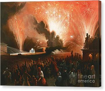 Fireworks Canvas Print by Celestial Images