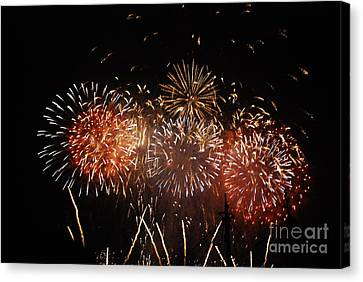 Firework's Display Canvas Print