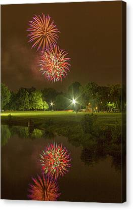 Fireworks During Fair St Louis Canvas Print by Garry McMichael