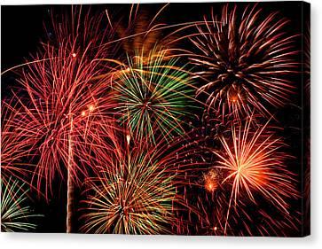 Fireworks Canvas Print by Erik Watts