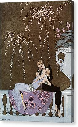 Fireworks Canvas Print by Georges Barbier