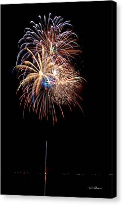 Fireworks IIi Canvas Print by Christopher Holmes