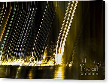 fireworks in Port of Malaga Canvas Print by Perry Van Munster