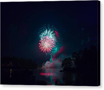 Fireworks In The Country Canvas Print