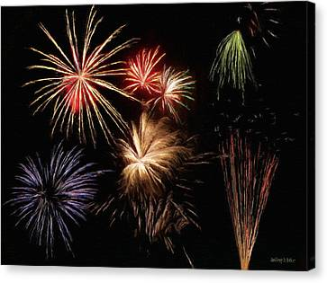 4th Canvas Print - Fireworks by Jeffrey Kolker