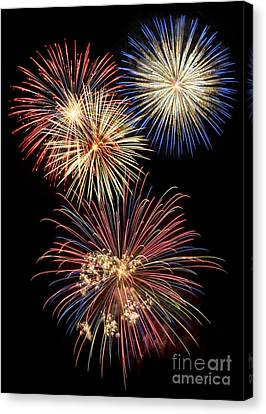 4th July Canvas Print - Fireworks by Leah McPhail