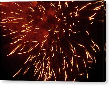 Fireworks Light Up The Sky While Celebrating Bastille Day Canvas Print by Sami Sarkis
