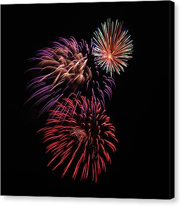 Pyrotechnic Canvas Print - Fireworks by Marv Vandehey