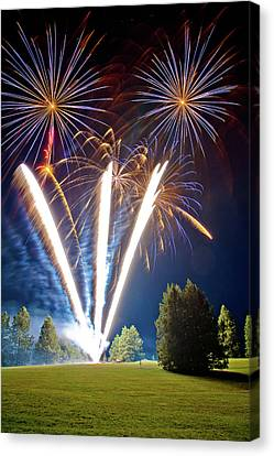 Fireworks No.2 Canvas Print by Niels Nielsen